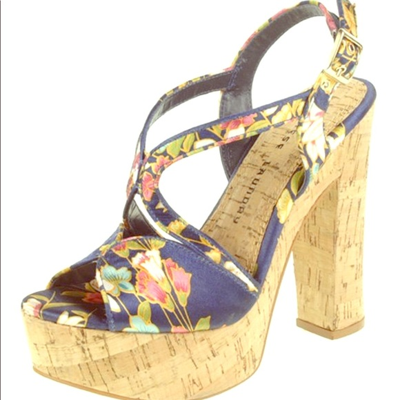 Chinese Laundry Shoes - Brand New Navy Party Time Platform Sandals